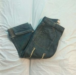 Joie Size 27 Cropped Button Fly Jeans
